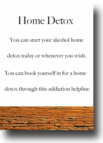 Alcohol Detox Home Detox